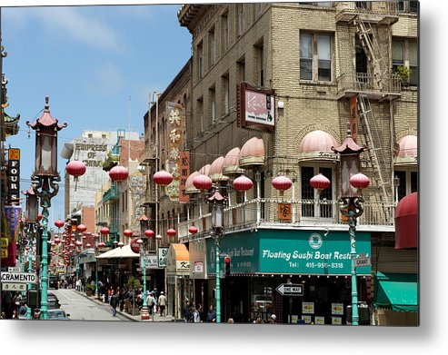 Chinatown Metal Print featuring the photograph Chinatown In San Francisco by Carol M Highsmith