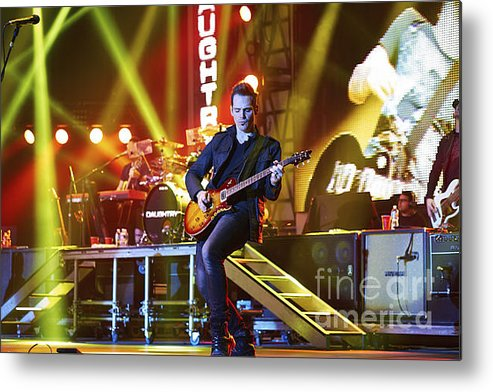 Daughtry Metal Print featuring the photograph Daughtry by Amanda Stevens