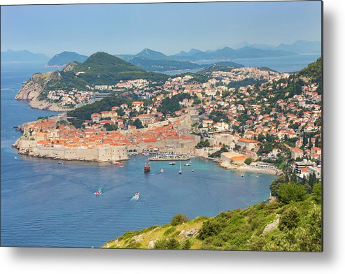 City Life Metal Print featuring the photograph Dubrovnik, Croatia. Overall View Of Old by Ken Welsh