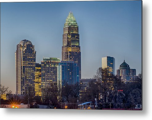 Early Metal Print featuring the photograph Early Morning In Charlotte Nc by Alex Grichenko