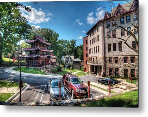 Hdr - National Park Seminary Metal Print featuring the photograph Hdr - National Park Seminary by Dem Wolfe