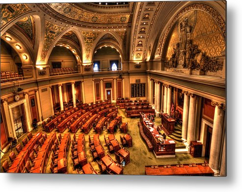 Minnesota State Capitol Metal Print featuring the photograph House Of Representatives by Amanda Stadther