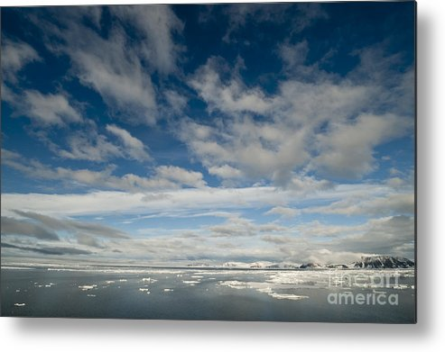 Arctic Metal Print featuring the photograph Ice Floes, Spitsbergen by John Shaw