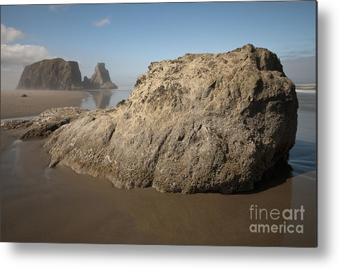 Nature Metal Print featuring the photograph Sea Stacks by John Shaw