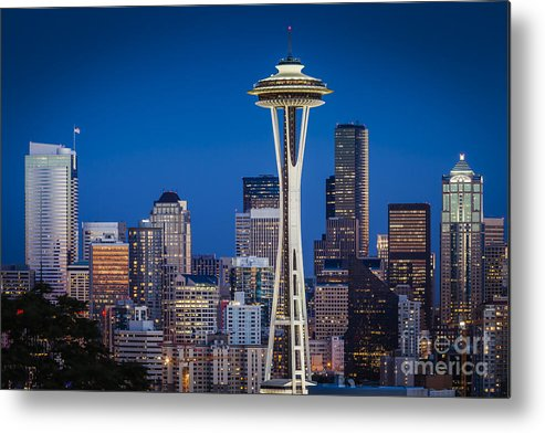 America Metal Print featuring the photograph Seattle Skyline by Brian Jannsen