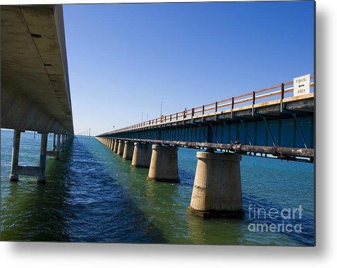 Seven Mile Bridge Metal Print featuring the photograph Seven Mile Bridge Florida Keys by Jason O Watson