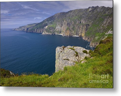 County Donegal Metal Print featuring the photograph Slieve League Cliffs, Ireland by John Shaw