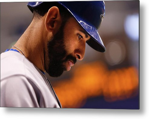 On-deck Circle Metal Print featuring the photograph Toronto Blue Jays V Tampa Bay Rays by Brian Blanco