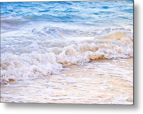 Caribbean Metal Print featuring the photograph Waves Breaking On Tropical Shore by Elena Elisseeva