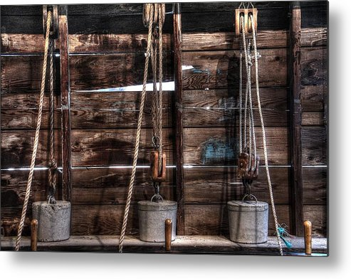 Weight Metal Print featuring the photograph 3 Weights by Ri Davidson