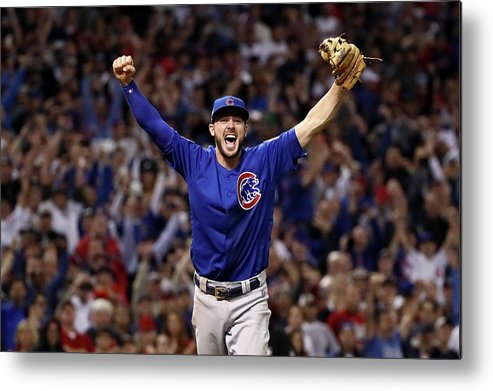 Three Quarter Length Metal Print featuring the photograph World Series - Chicago Cubs V Cleveland 3 by Ezra Shaw