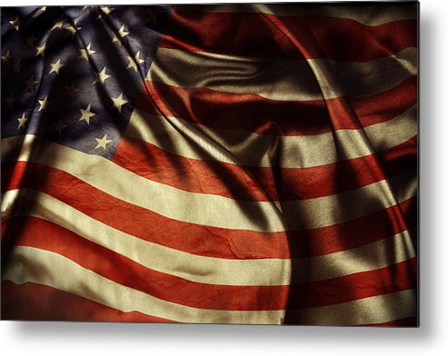 Flag Metal Print featuring the photograph American Flag by Les Cunliffe