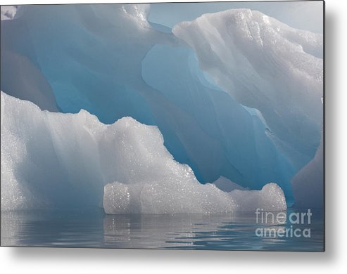Iceberg Metal Print featuring the photograph Iceberg, Antarctica by John Shaw