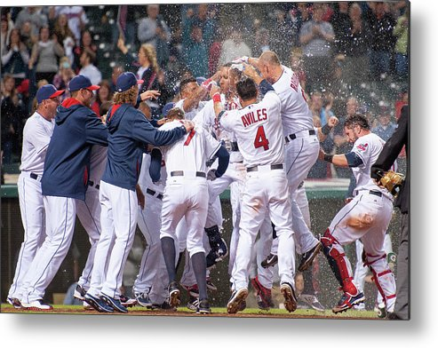 American League Baseball Metal Print featuring the photograph Detroit Tigers V Cleveland Indians 4 by Jason Miller