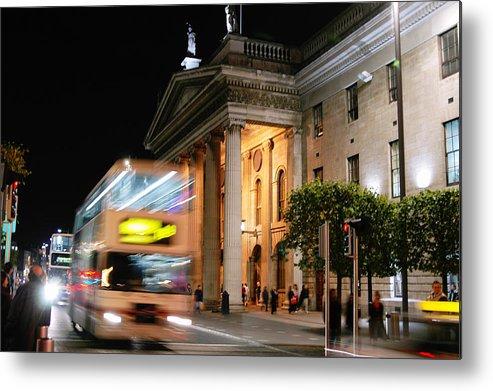Cream Metal Print featuring the photograph Dublin General Post Office by Josh Whalen