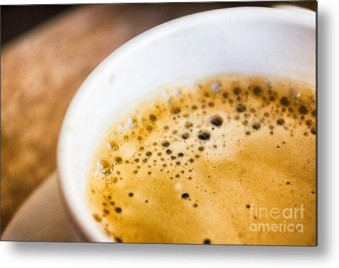 Fresh Metal Print featuring the photograph Espresso Coffee For Breakfast by Tuimages