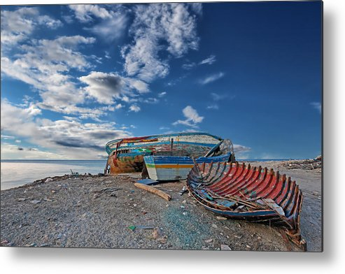Boat Metal Print featuring the photograph Fishing Boat by Paul Fell