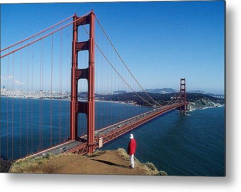 Golden Gate Bridge Metal Print featuring the photograph Golden Gate Bridge by Carl Purcell