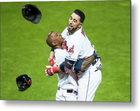 American League Baseball Metal Print featuring the photograph Minnesota Twins V Cleveland Indians 4 by Jason Miller
