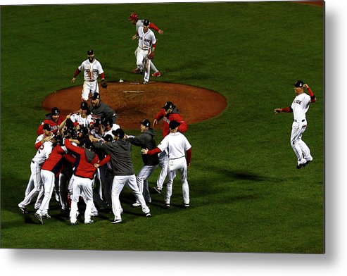 St. Louis Cardinals Metal Print featuring the photograph World Series - St Louis Cardinals V by Jamie Squire
