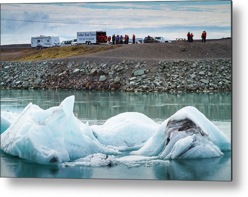 Climate Metal Print featuring the photograph Iceland, Ice & Fire by Mikel Bilbao