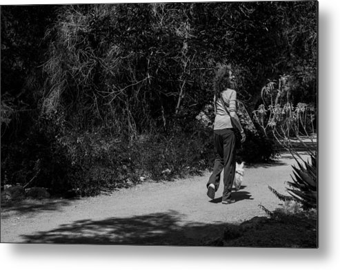 B&w Metal Print featuring the photograph Lets Go by Marit Runyon