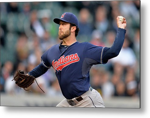 American League Baseball Metal Print featuring the photograph Cleveland Indians V Chicago White Sox by Brian Kersey