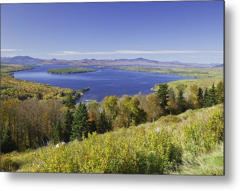 Landscape Metal Print featuring the photograph Colorful Fall Forest Near Rangeley Maine by Keith Webber Jr
