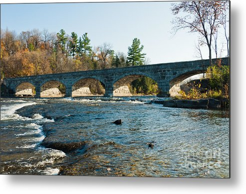 Stonebridge Metal Print featuring the photograph 5-span Bridge by Cheryl Baxter