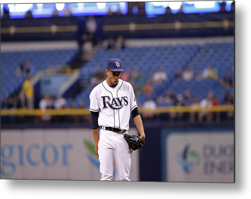 American League Baseball Metal Print featuring the photograph Toronto Blue Jays V Tampa Bay Rays 5 by Brian Blanco