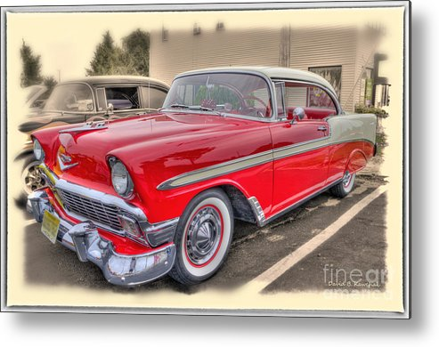 57 Chevy Metal Print featuring the photograph 56 Classic Chevy by David B Kawchak Custom Classic Photography