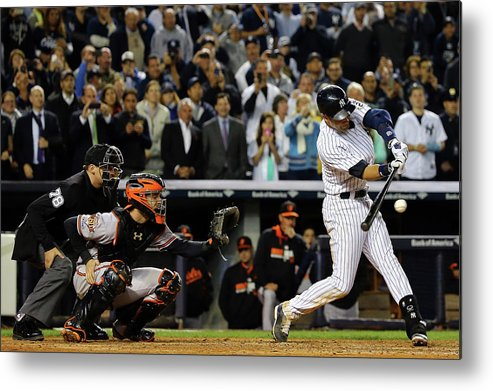Ninth Inning Metal Print featuring the photograph Baltimore Orioles V New York Yankees 6 by Al Bello