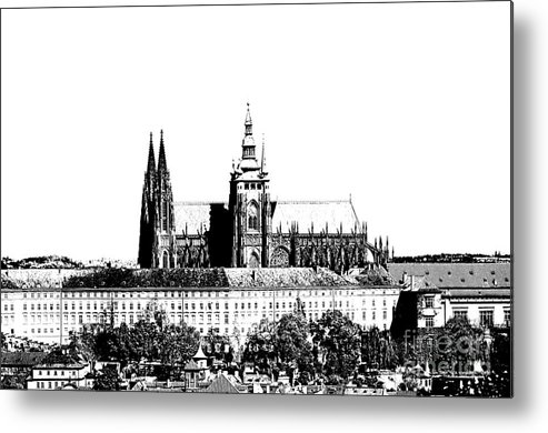 Castle Metal Print featuring the digital art Cathedral Of St Vitus by Michal Boubin