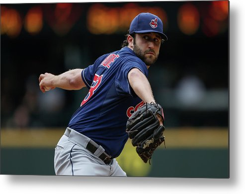 Second Inning Metal Print featuring the photograph Cleveland Indians V Seattle Mariners by Otto Greule Jr