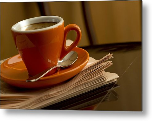 Coffee Metal Print featuring the photograph Espresso by Chevy Fleet
