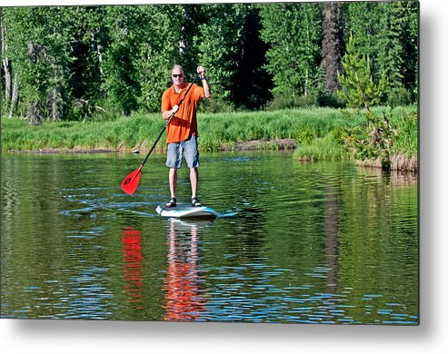 Mark Weber Metal Print featuring the photograph Standup Paddle by Elijah Weber