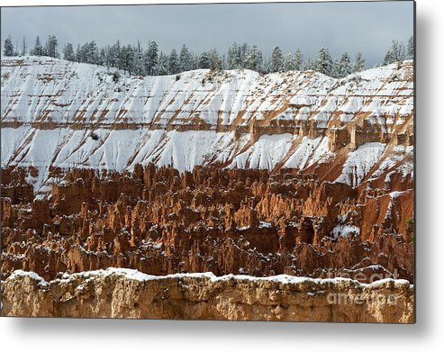 America Metal Print featuring the photograph Winter Scene, Bryce Canyon National Park by John Shaw