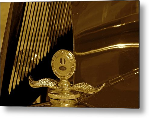 Classic Cars Trucks Ford Landscape Metal Print featuring the photograph Classic Cars by Frank Conrad