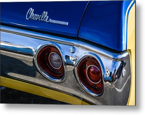 Car Metal Print featuring the photograph 67 Chev Taillight by Mike Watts
