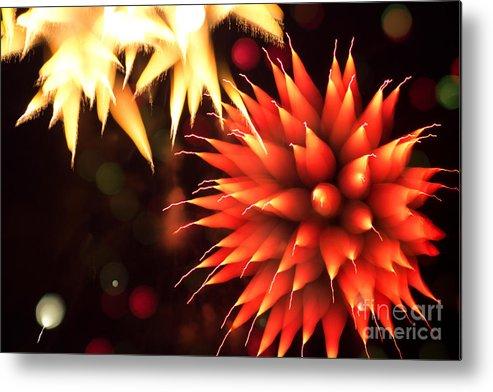 4 Metal Print featuring the photograph Fireworks Art by Benjamin Simeneta