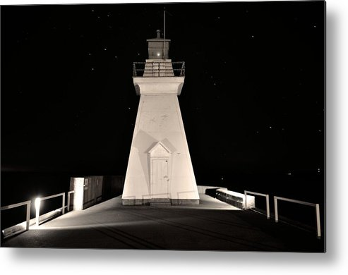 Black & White. Light House Metal Print featuring the photograph Tracybphotography by Tracy Bennett