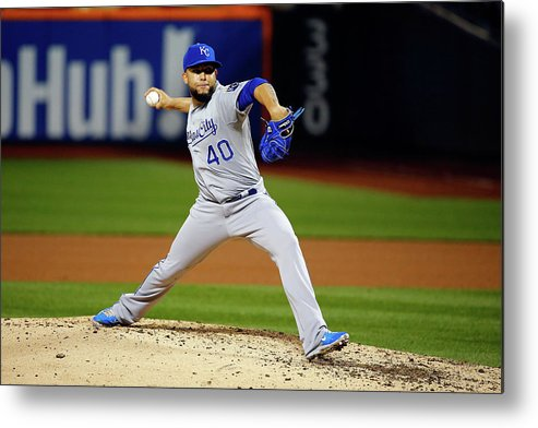 People Metal Print featuring the photograph World Series - Kansas City Royals V New 7 by Al Bello