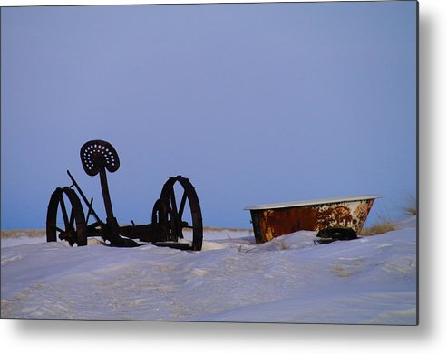 Morning Metal Print featuring the photograph A Bath After Harvest by Jeff Swan