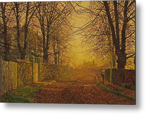 Grimshaw Metal Print featuring the painting A Golden Shower by Pam Neilands