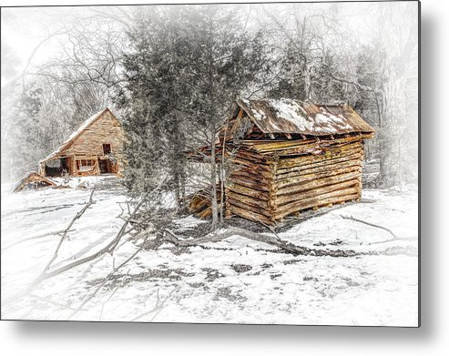 Barn Metal Print featuring the photograph A Little Tattered by Bobby Hicks
