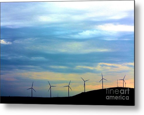 Wind Mills Metal Print featuring the photograph A New Future by Nick Gustafson