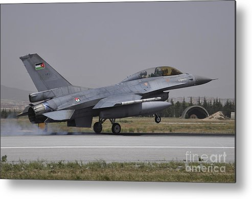 ca37679d0ed3 Horizontal Metal Print featuring the photograph A Royal Jordanian Air Force  F-16am by Giorgio