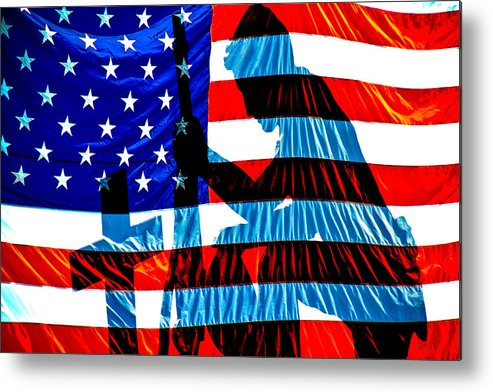 Patriotic Metal Print featuring the photograph A Time To Remember by Bob Orsillo