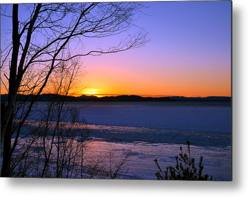 Lake Champlain Metal Print featuring the photograph A Winters Horizon by Wendell Ducharme Jr