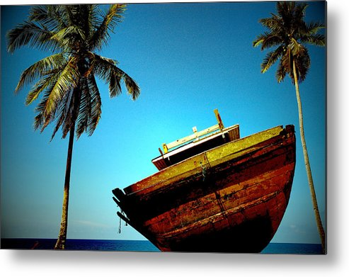Blue Metal Print featuring the photograph Abandon Hope by Alias Alma